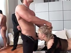 Anal Sex, Ass, Big Tits, Blonde, Blowjob, Cowgirl, Cumshot, Doggystyle, Double Anal, Gangbang,