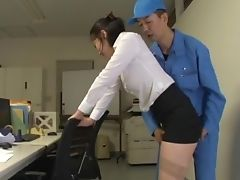 Blowjob, Clothed Sex, Couple, Cowgirl, Fingering, Hardcore, Japanese, Miniskirt, Nylon, Office,